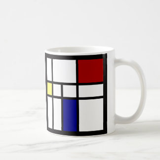 Mondrian inspirierte Entwurf Kaffeetasse