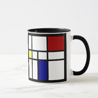Mondrian inspirierte Entwurf Tasse