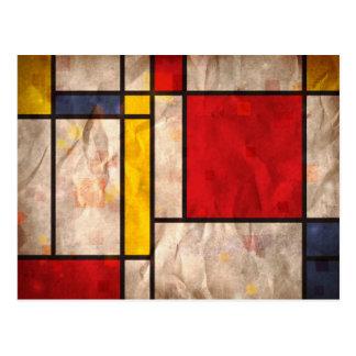 Mondrian inspirierte postkarte