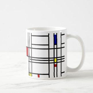 Mondrian moderne Kunst Kaffeetasse