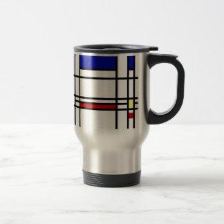 Mondrian moderne Kunst Reisebecher