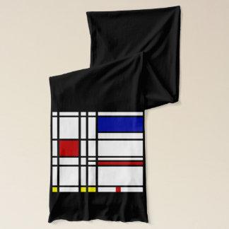 Mondrian moderne Kunst Schal