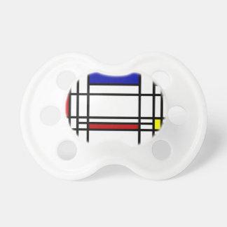 Mondrian moderne Kunst Schnuller