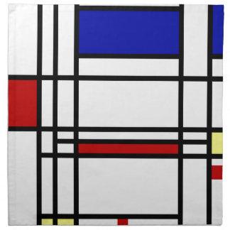 Mondrian moderne Kunst Serviette