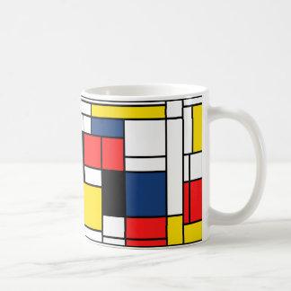Mondrian trinkt hier! tasse