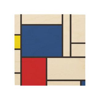 Mondrian unbedeutende De Stijl Kunst-hölzerner Holzwanddeko