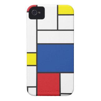 Mondrian unbedeutender De Stijl Kunst iPhone 4 Cas
