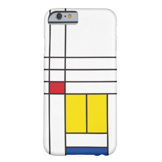 Mondrian unbedeutender De Stijl Kunst iPhone Fall Barely There iPhone 6 Hülle