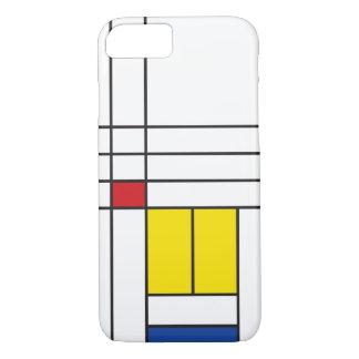 Mondrian unbedeutender De Stijl Kunst iPhone Fall iPhone 8/7 Hülle