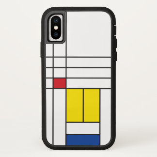 Mondrian unbedeutender De Stijl Kunst iPhone Fall iPhone X Hülle