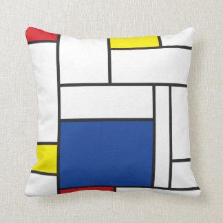 Mondrian unbedeutendes De Stijl Kissen