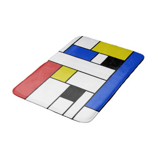 Mondrian zeichnet mittlere Bad-Matte Badematten