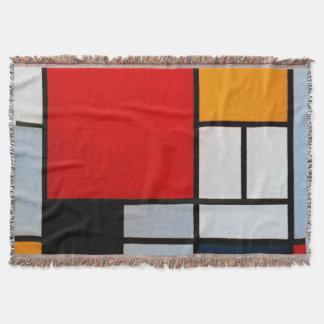 Mondrian - Zusammensetzung mit großem rotem Decke