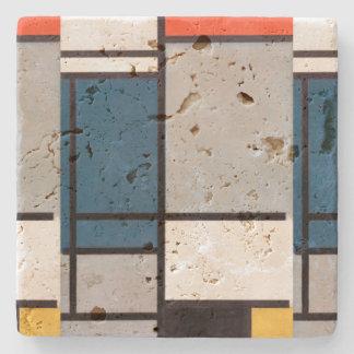Mondrian Zusammensetzung mit Rotem, blau, schwarz, Steinuntersetzer