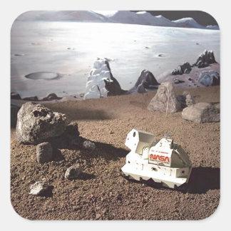 MONDSCAPE - DIE MARS-NASA-AUFTRAG QUADRATISCHER AUFKLEBER