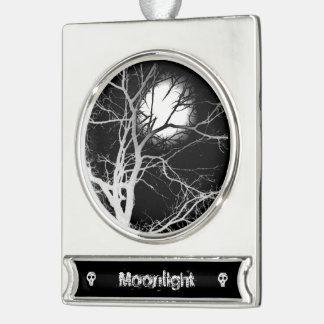 Mondschein Banner-Ornament Silber