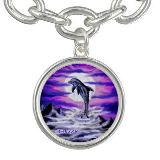Mondschein-Delphin Armbänder