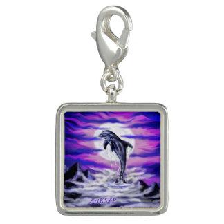 Mondschein-Delphin Charm