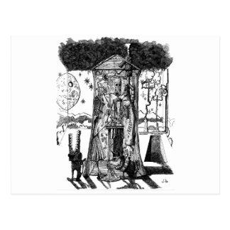 Mondschein-Entwurf Postkarte