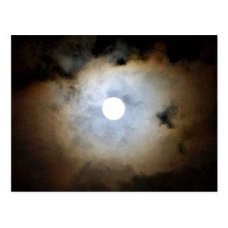 Mondschein in Mayfair. Die Wolken und die Lichter Postkarte