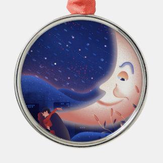 Mondschein Silbernes Ornament