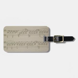 Mondschein-Sonate Gepäckanhänger