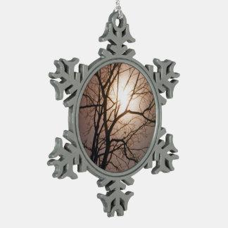 Mondschein-Traum Schneeflocken Zinn-Ornament