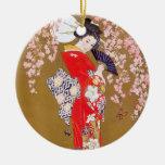 Mondschein und Kirschblüten Ornamente