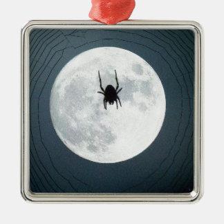 Mondspinne Quadratisches Silberfarbenes Ornament