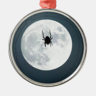 Mondspinne Rundes Silberfarbenes Ornament