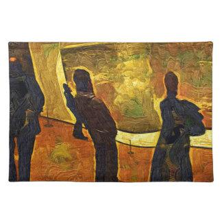Monet am Museum der moderner Kunst NYC Stofftischset