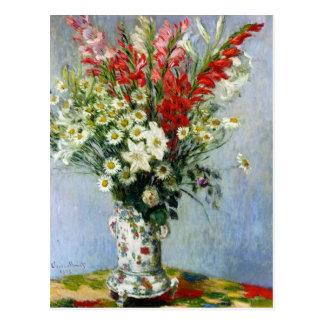 MONET Blumenstrauß von Gladiolas Postkarte