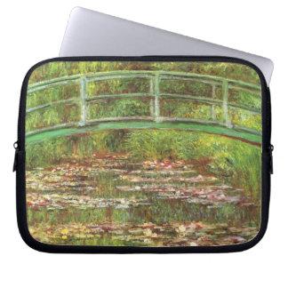 Monet - Brücke über Wasser Lilys Laptopschutzhülle