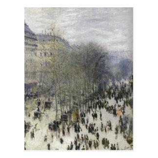Monet, Claude-Boulevard-DES Capucines Techniq 1873 Postkarte