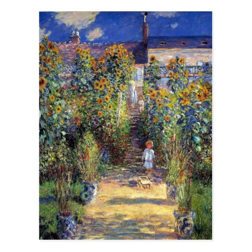 "Monet, ""der Garten des Künstlers bei Vétheuil"" Pos Postkarte"