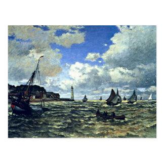 Monet - die die Seine-Mündung bei Honfleur Postkarte