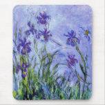 Monet Flieder Irises Mausunterlage Mauspads
