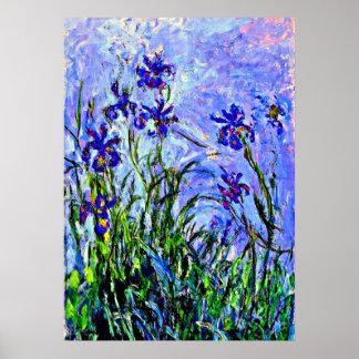 Monet - Fliedern und Iris Poster