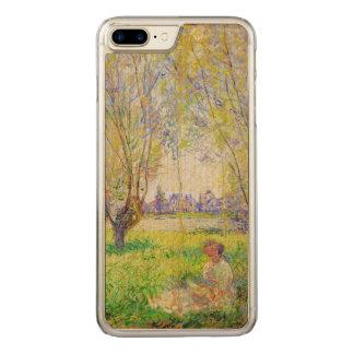 Monet Frau gesetzt unter der Weide-schönen Kunst Carved iPhone 8 Plus/7 Plus Hülle