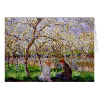Monet - Frühjahr Grußkarte