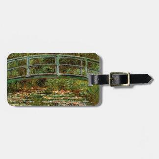 Monet Giverney japanischer Brücken-Impressionist Kofferanhänger