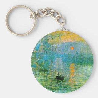 Monet Impressionismus-Sonnenaufgang-Schlüsselkette Standard Runder Schlüsselanhänger