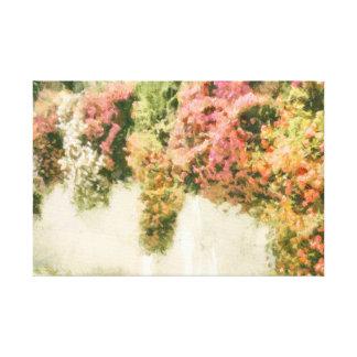 Monet inspirierte Blumenwand der Blumen Leinwanddruck