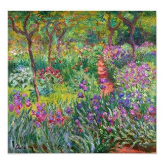 Monet Iris-Garten am Giverny Foto-Druck