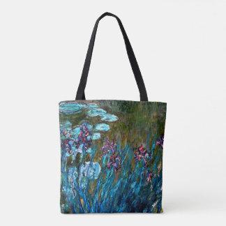 Monet - Iris und Wasser-Lilien Tasche
