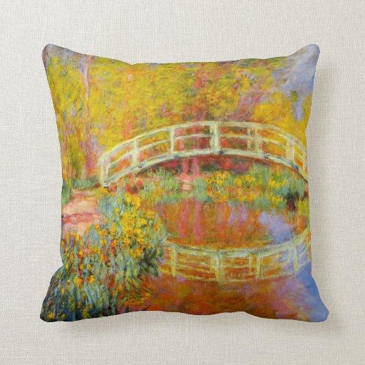 Monet japanisches Brücken-Kissen