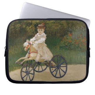 Monet - Jean auf seinem Dreirad Laptop Sleeve
