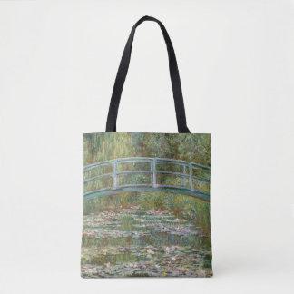 Monet Kunst-Brücke über einem Teich der