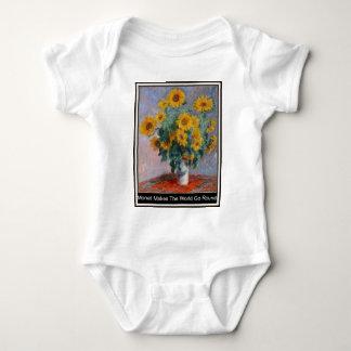 Monet lässt die Welt ringsum Babygrow Tshirts
