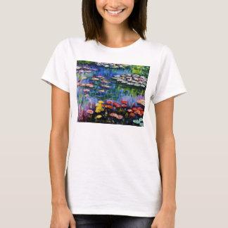 Monet lila Wasser-Lilien-T - Shirt